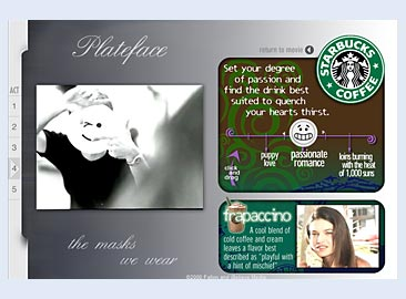 Plateface - Starbucks Page