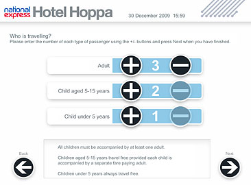 "National Express ""Hoppa"" Kiosk Screen"